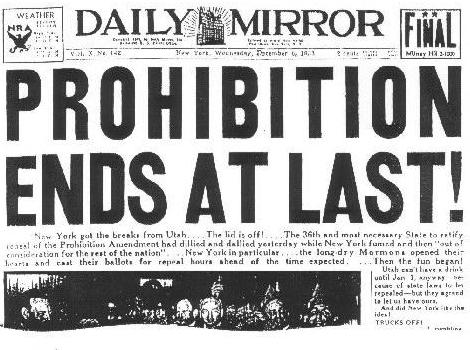 The Futility and Final Repeal of Prohibition